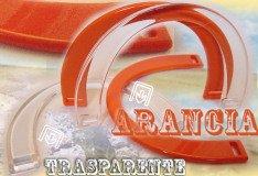 manici colorati trasparenti arancioni per borse di fettuccia fai da te uncinetto e rafia