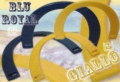 manici blu gialli colorati borse di fettuccia fai da te rafia uncinetto