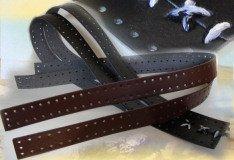 striscia forata ecopelle marrone nero creare manici finiture fondi borse fettuccia uncinetto