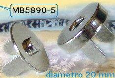 chiusure magnetiche 20 mm fermaglio cavità e bottone con alette da agganciare