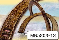 mezzaluna marrone brillantini glitter manici anelli cerchi per borse uncinetto
