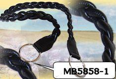 manici neri intrecciati ecopelle per creare borse all'uncinetto e ferri da maglia