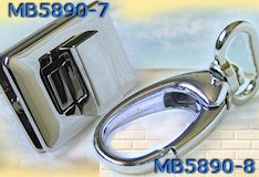 chiusure borse uncinetto fettuccia rafia lana cotone girello e moschettone colore argento