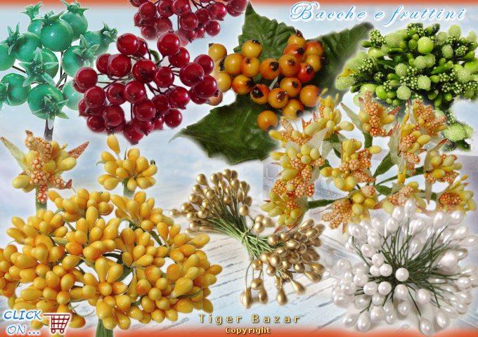 Favoloso Articoli bomboniere piantine perline confetti bacche frutta  II63