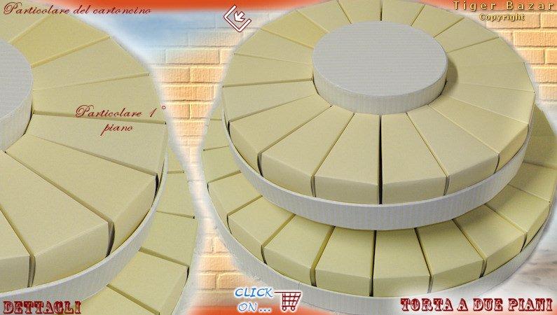 Favorito Fai da te scatoline fette di torta confetti bomboniere - tigerbazar IB05