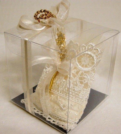 Ben noto sacchetto portaconfetti Comunione con spiga di perline decorazione  ZC48