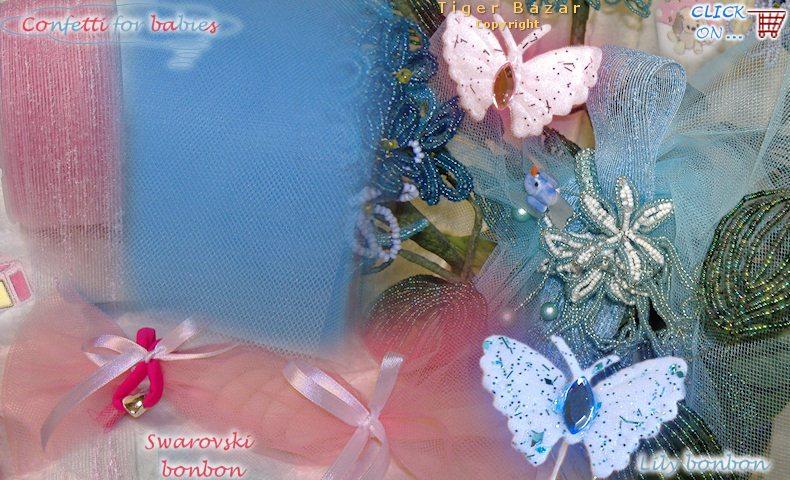 Bien connu Materiali bomboniera per Battesimo fiori di perline e sacchetti  WV32