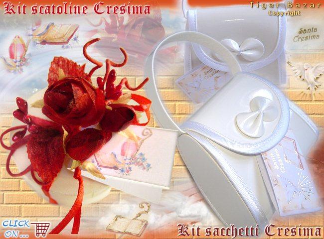 Favoloso kit Cresima bomboniere fai da te - tigerbazar YR19