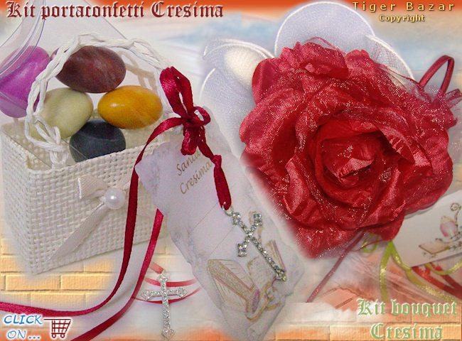 Favoloso kit Cresima bomboniere fai da te - tigerbazar YG22