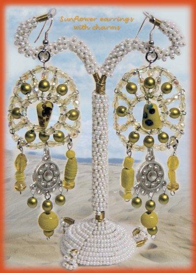 Favoloso charms orecchini bijoux bigiotteria di perline ciondoli idee  UJ22