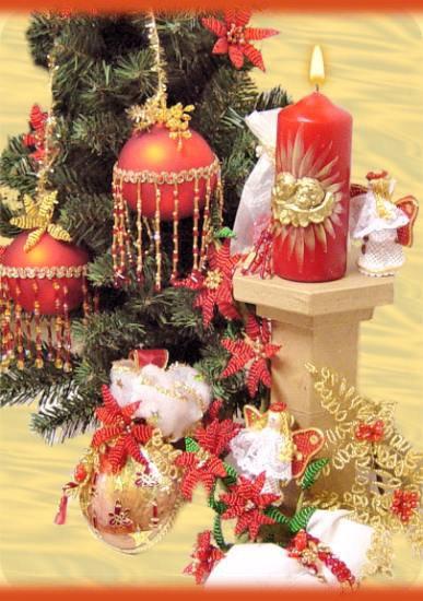 decorazioni natalizie fai da te addobbi di natale : per creare decorazioni addobbi perline albero Natale idee fai da te ...