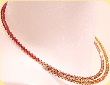 Swarovski creazioni collane fai da te cristalli ambra for Creazioni fai da te