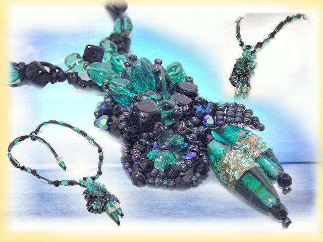 Di vetro per bigiotteria - creare bijoux con ciondolo fiore di perline