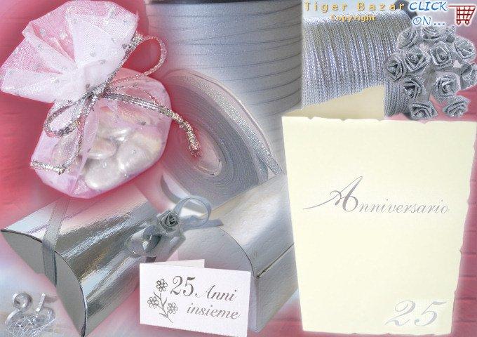 Super tigerbazar - bomboniere nozze d'argento: scatoline, sacchetti  TC05
