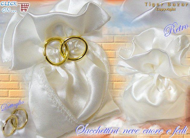 Ben noto Sacchettino raso organza portaconfetti hobby idea bouquet fiori di  HU84