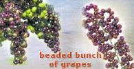 beaded bunch of grapes