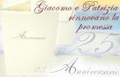 Partecipazioni Per 25 Anni Di Matrimonio.25 Anni Matrimonio Portaconfetti Per Bomboniere E Confetti Di