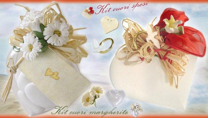 Kit Bomboniere Matrimonio Fai Da Te.Sposi Bomboniere Scatole Scatoline Kit Per Confetti Fai Da Te