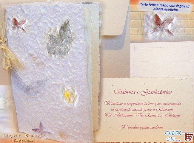 Carta Per Partecipazioni Matrimonio.Cartoncini Partecipazioni Nozze Artigianali E Fai Da Te Tigerbazar