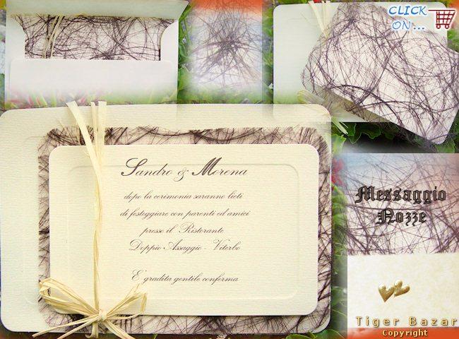 Biglietti partecipazioni matrimonio fai da te tk31 for Partecipazioni nozze on line