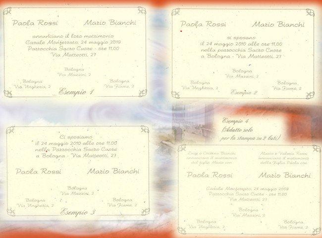 Eccezionale Partecipazione di nozze, modelli di stampa testo - tigerbazar QL17