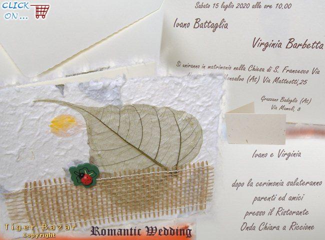 Estremamente sposi partecipazioni nozze, pergamene per invito matrimonio  PQ46