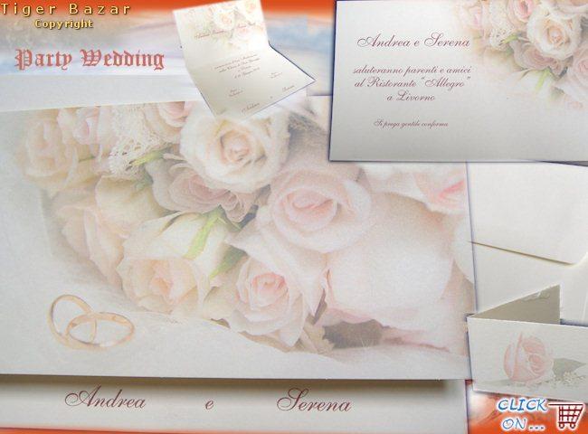 abbastanza sposi partecipazioni nozze, pergamene per invito matrimonio  ZB47