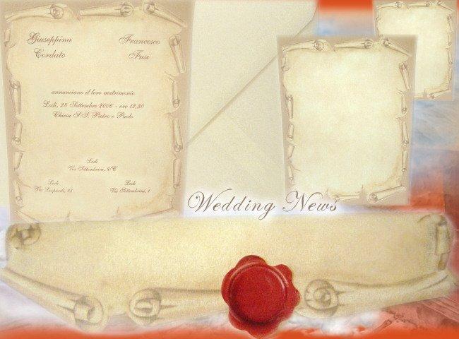 Partecipazioni Matrimonio Pergamena.Inviti Matrimonio E Partecipazioni Per Nozze In Vendita On Line