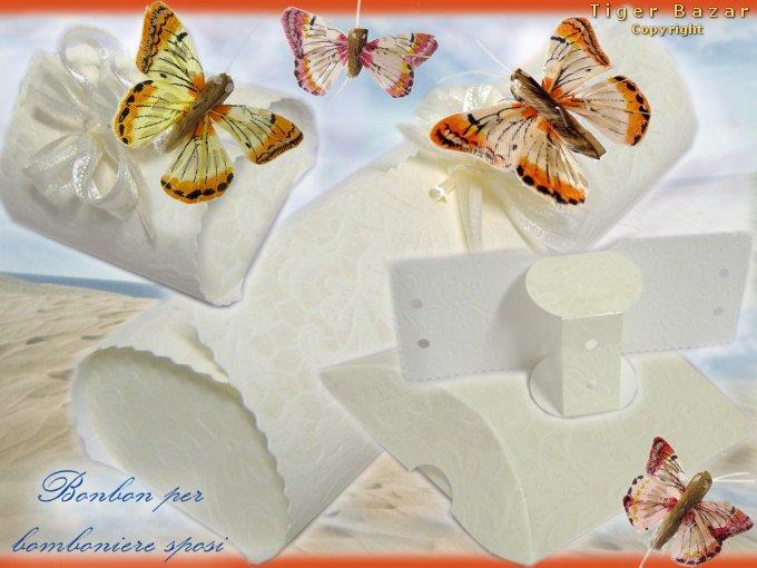 Favorito Sposi bomboniere scatole scatoline kit per confetti fai-da-te  BD72