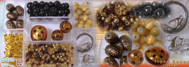 taglia 40 36e4e 0ef80 tigerbazar - idee regalo kit perline di vetro accessori fai ...