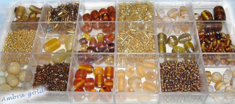 taglia 40 fd105 b8ad2 tigerbazar - idee regalo kit perline di vetro accessori fai ...