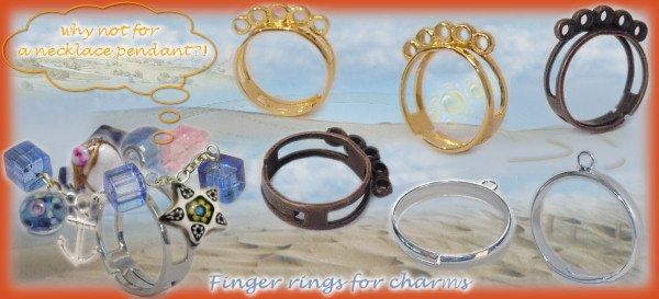 Esempi anelli ciondoli charms come realizzare anelli - Creare porta orecchini ...