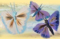 Farfalle di piume accessori fiori perline bonsai alberelli for Glicine bonsai prezzo