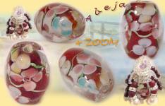 ... di vetro bigiotteria gioielli, bijoux perle millefiori decori fantasia