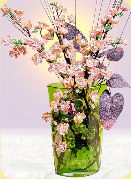 Foglie Per Fiori Di Perline Uncinetto Foglia Per Fiore Di Nastro E