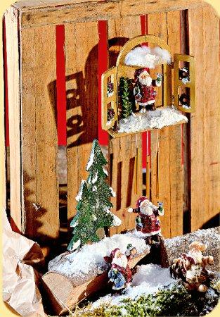 Statuette cernit babbo natale per creare decorazioni e - Creare decorazioni natalizie ...